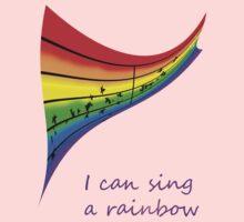 I can sing a rainbow Kids Tee