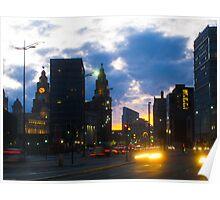 Liverpool Night Poster