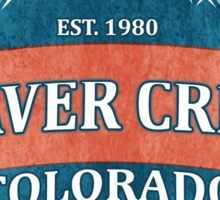 Beaver Creek Colorado teal grunge shield Sticker