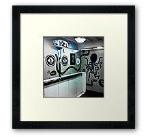 Graffiti toilet Framed Print