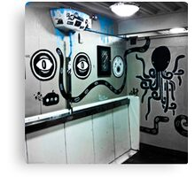 Graffiti toilet Canvas Print