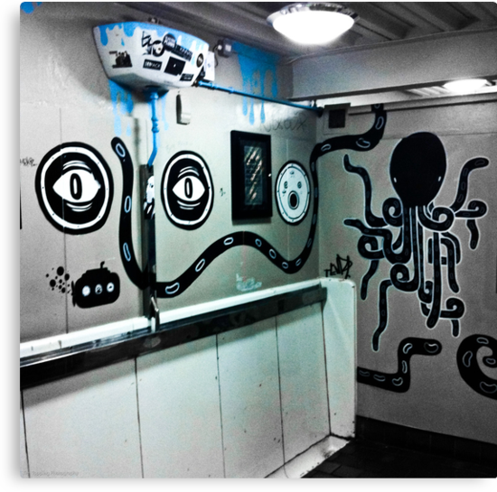 Graffiti toilet by Tim Topping