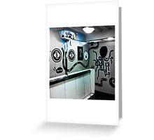 Graffiti toilet Greeting Card