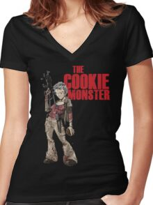 The Cookie Monster Women's Fitted V-Neck T-Shirt