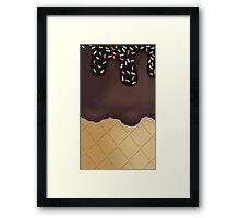 Chocolate Ice Cream sprinkles Framed Print