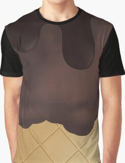 Chocolate Ice Cream Chocolate top Graphic T-Shirt