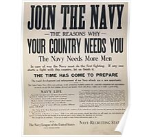 Join the Navy Your country needs you Poster