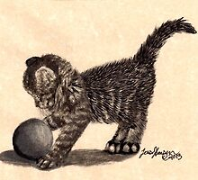 "The Tabby Kitten ""Webby"" playing by imagineuniverse"