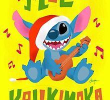Christmas Card - Mele Kalikimaka by Cheyne Gallarde