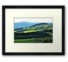 Driving through paradisical Aberdeenshire Framed Print