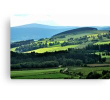 Driving through paradisical Aberdeenshire Canvas Print