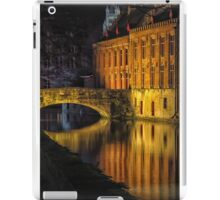 Night time reflections in Bruges iPad Case/Skin