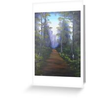 """Forest Path""  by Carter L. Shepard Greeting Card"