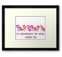 On Wednesdays We Wear Pinkie Pie Framed Print