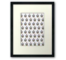 """""""Cherry on Pup"""" Maltese Cake Pattern Framed Print"""