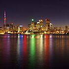 Toronto Skyline at Night by Zoltán Duray