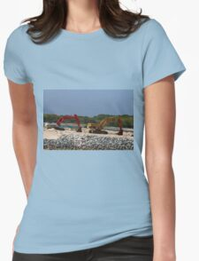 Two Bulldozers Womens Fitted T-Shirt