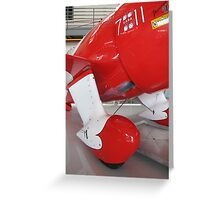 Red and White Spats Greeting Card