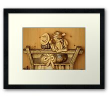Couple - Made of Wood Framed Print