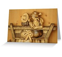 Couple - Made of Wood Greeting Card