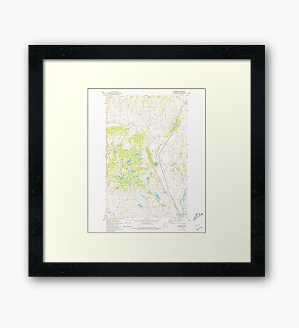 USGS Topo Map Washington State WA Riverside 243477 1981 24000 Framed Print