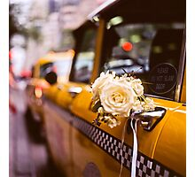 Wedding TAXI Photographic Print
