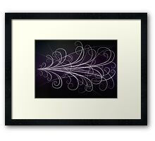 Particle Paths Framed Print