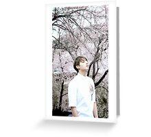 "Jungkook ""Cherry Blossom"" Greeting Card"
