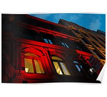 City Night Walks - the Red Facade Poster