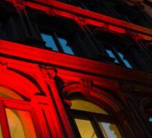 City Night Walks - the Red Facade Sticker