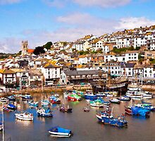 Brixham Harbour by Ian Merton