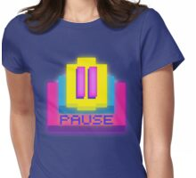 Retro-PAUSE Womens Fitted T-Shirt