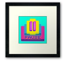 Retro-PAUSE Framed Print