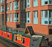Narrow Boat, Gloucester Docks Sticker