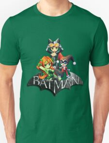 Batman Sign with Cat Ivy and Harley T-Shirt