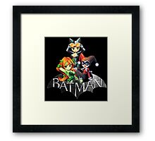 Batman Sign with Cat Ivy and Harley Framed Print
