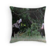 Turkeys - (Meleagris gallopavo) Throw Pillow