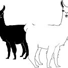 Black and White Llamas by beerhamster