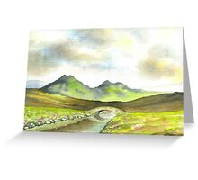 THE BROOK BETWEEN THE MOUNTAINS Greeting Card