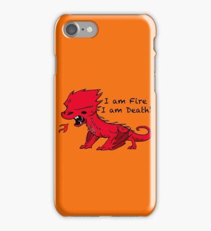 Baby Smaug - I am Fire, I am Death iPhone Case/Skin