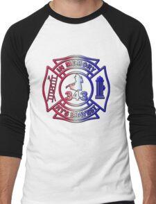 In Memory of NY 343 Style Patriotic Men's Baseball ¾ T-Shirt