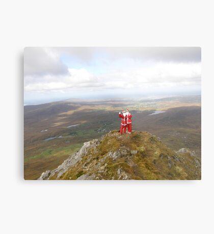Santa on Errigal Mountain Donegal Ireland Metal Print