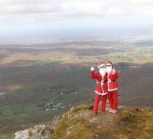 Santa on Errigal Mountain Donegal Ireland Sticker