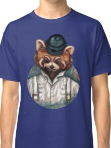 Cute Red Panda in Bowler hat Classic T-Shirt