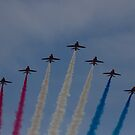 Red Arrows over Belfast by Jon Lees