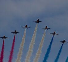 Red Arrows over Belfast by Jon Lees