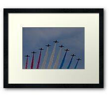 Red Arrows over Belfast Framed Print