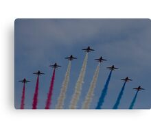Red Arrows over Belfast Canvas Print