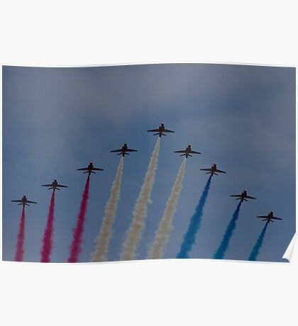 Red Arrows over Belfast Poster