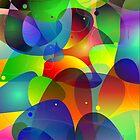 "Colorful Abstract Digital Art-Title"" Fish Tank by artonwear"
